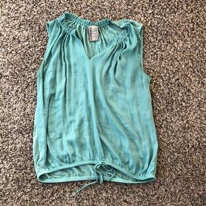 Anthropology mint sleeveless top